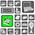 Money squared icons a collection of different Stock Photos