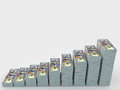 Money stack with blank space for text. Finance concepts Royalty Free Stock Photo