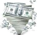 Peniaze v stoh z hotovosť