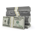 Money stack on the white background Stock Photography