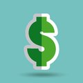 Money symbol isolated icon
