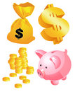 Money symbols Royalty Free Stock Photos