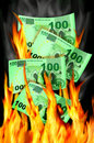 Money to burn Stock Image