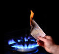 Money to burn Royalty Free Stock Photo