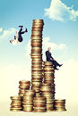 Money tower Royalty Free Stock Images