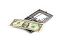 Money trap one dollar in metal Royalty Free Stock Photos