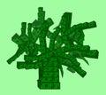 Money Tree of US Dollar banknotes Royalty Free Stock Photo