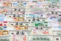 Money, various currencies as a background Royalty Free Stock Photo