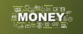 Money vector trendy banner Royalty Free Stock Photo