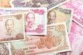 Money from Vietnam, various Dong banknotes Royalty Free Stock Photo
