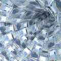 Money vortex of 20 euro bills Royalty Free Stock Photo