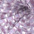 Money vortex of 500 euro notes Royalty Free Stock Photo