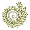 Money vortex icon Royalty Free Stock Photo