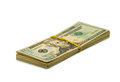 Money on a white background isolated image of many dollars Royalty Free Stock Images