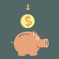 Moneybox for money pig accumulation of Royalty Free Stock Photography