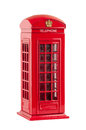 Moneybox representing red british telephone booth isolated on white background with clipping path Stock Photography
