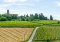 Monferrato italy country landscape of asti piedmont road Stock Image