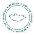 Mongolia vector map.