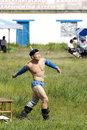 Mongolian Wrestler Stock Photos