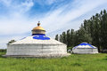 Mongolian yurts Royalty Free Stock Photos
