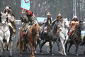 Mongolians, Prix d'Amérique, Vincennes, 2007 Royalty Free Stock Images