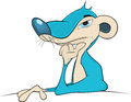 Mongoose cartoon portrait of a blue lovely Royalty Free Stock Image