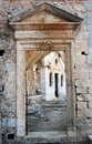 Moni katholikou ruins the of or monastery of st john the hermit Royalty Free Stock Photos