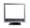 Monitor gray old on a white background Royalty Free Stock Images