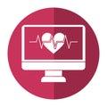 Monitor heartbeat cardiology rhythm shadow