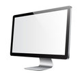 Monitor white picture Royalty Free Stock Image