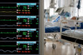 Monitoring in ICU Royalty Free Stock Photo