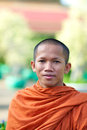 Monk in Cambodia Royalty Free Stock Images