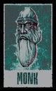 Monk. Fantasy Hero. Vector illustration