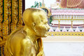 monk golden statue Royalty Free Stock Photo