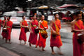 Monk lao monks alm southeast asiatourism Stock Photography