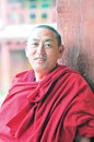Monk in tibet a sangpi temple xiangcheng county sichuan Stock Photography