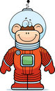 Monkey Astronaut Stock Photo