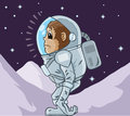Monkey astronaut drawing of a sad Royalty Free Stock Photos
