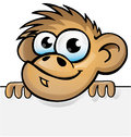 Monkey with background cartoon Stock Photo