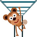 Monkey bars a cartoon illustration of with a Stock Photos