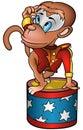 Monkey circus performer Royalty Free Stock Photo
