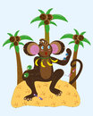 Monkey and different sunglasses. Royalty Free Stock Images