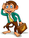 A monkey doing business Royalty Free Stock Photo