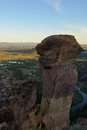 Monkey Face, Smith Rock and Crooked River Royalty Free Stock Photo