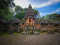 Monkey forest temple in ubud bali pura dalem agung padangtegal at the sanctuary Royalty Free Stock Photo