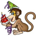 Monkey Happy Birthday Royalty Free Stock Photo