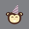 Monkey head vector illustration.