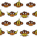 Monkey heads background Stock Images
