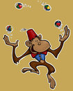 Monkey Jongleur. Royalty Free Stock Images