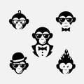 Monkey logos Royalty Free Stock Photo
